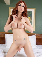Bailey Jay Bailey shows her huge tits & dick