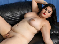BBW hottie Veronica Cakes, who made her debut two weeks ago, returns for more! This pretty Florida doll loves showing off her curvy body, big boobs and that big hot booty! In another hot solo scene shot by Jack Flash, Veronica slowly strips down and bares it all! Watch her as she strokes her cock until she reaches orgasm!