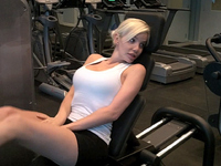 TS Babe working out at the Gym
