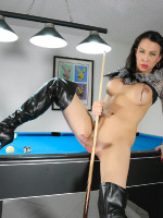Hung beauty Danika playing pool