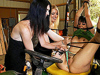 Mandy Mitchell Naughty Hollie and TS Mandy tying up a hot girl in the barn