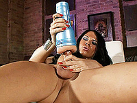 Tempting Ashley George playing with her fleshlight