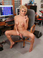 Beautiful Gianna strips in office