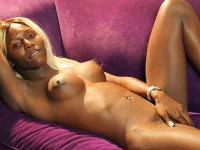 Kendall Dreams is a stunning black tgirl with an amazing taut body, sexy big tits, a firm bubble butt and a rock hard cock! Watch this smoking hot Grooby girl jacking off!