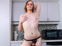 Another sexy Grooby Newbie makes her Femout debut today: meet Amber Jay! Just discovered by Omar Wax, Amber is a stall girl with a hot body and a great ass! She's also a kinky girl, she's into bondage and domination! Watch her stripping, posing and stroking her cock in her first scene ever!