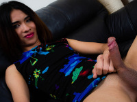 Mel is a dark-haired angel. Gosh, her her cute little ass and yummy cock looks simply mouth-watering. Watch this Ladyboy.XXX new cummer as she gently takes her clothing off and teases you with so much lust.