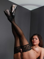 Carmen Moore Hot Carmen posing in black stockings