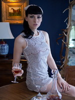 Bailey Jay TS hotness Bailey sipping brandy