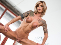 Sexy leggy Nina Lawless has a hot slim body, a beautiful face, firm ass, big tits and a big hard cock! Enjoy this sexy tgirl showing off her sexy body for you!