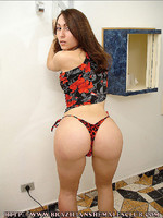 Sabrina Cherman Brazilian tranny Sabrina Cherman strips in front of the camera