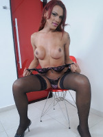 Hung Mylia stroking in stockings