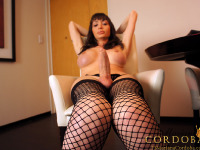 Mariana Cordoba - A Sexy Latina Tranny in Stockings and Lingerie