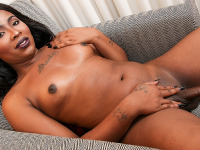 Megan Porter is a sexy black tgirl with an amazing body, nice tits, a great ass and a big hard cock! See this horny transgirl stroking her big cock and shaking that sexy booty for you!