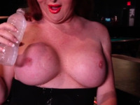 Wendy seduces tit worshippers by caressing and playing with her huge love jugs