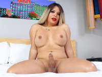 Curvy Latina bombshell Nurya, introduced to you by Omar Wax two weeks ago, returns for her second solo scene and she can't wait to show you what she got for you this time! Nurya is such a hottie: an amazing body, big boobs and a thick juicy ass, she is perfect! Watch her stripping, posing and stroking her cock until she cums just for you!