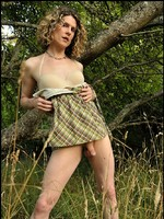 Sexy transsexual striptease in the great outdoors of Washington state.