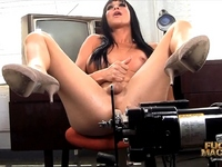 Horny Jonelle fucked by the machine