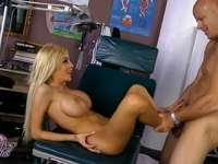 Big titted tgirl Kimber James getting drilled hard