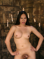 Sexy Amanda going naughty in the dungeon