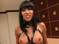 Heated ladyboy longing for domination and discipline