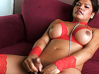 Carmen Moore Beautiful tgirl Carmen Moore playing with herself