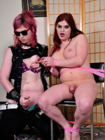 Slutty Tiffany toyed by a tgirl