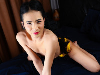 Pretty Wanwan is back and she's lovelier than ever. She still got those sexy legs, nice ass and most importantly that thick uncut cock that she can't wait to play for all of her fans. Watch Wanwan as she gracefully teases her naked body and rubs her cock 'till she cums.