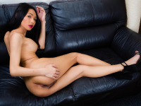 Sara is a seriously gorgeous ladyboy from Bangkok and admitted that she gets very very horny sometimes. Her perfect round tits, tight ass and tasty looking cock will make you fall in love. Watch this innocent looking doll gets naked and strokes her cock. She's really something you can't afford to miss.