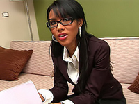 Naughty office assistant gets extremely excited and horny