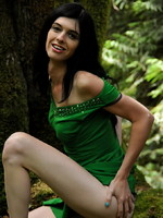 Mandy Mitchell Irresistible TS Mandy Mitchell toying herself in the forest