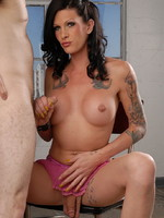 Naughty Morgan Bailey having oral with a stud