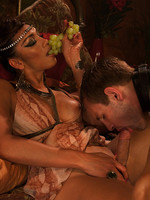 Ts Yasmin Lee shoots a 20 SECOND LONG CUM SHOT ONTO HER MAN'S FACE in this special feature shoot: Cleopatra. Her cock, his slave will, her commands.
