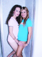 SheLesbianPOV.com - Teen tranny gets sexually overwhelmed by an experienced Latin shemale