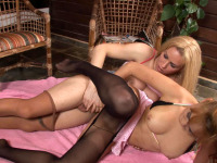 Rachel & Nikki - Hot tranny practicing her fucking skills in doggystyle and other positions