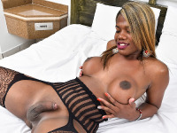 Sophia is a gorgeous Brazilian tgirl with an amazing body, big breasts, a rock hard cock and a superb ass! Watch this horny transgirl shaking her sexy booty and jacking her hard dick!