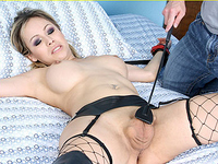 TS Celeste gets bound, spanked, and fucked hard