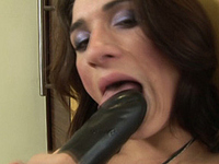 Adriana Rodrigues Tranny Adriana Rodrigues in a sex session where she wanks and dildo-fucks