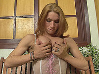 Big cock tranny spreading and showing off