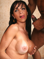 Hot shemale getting black cock