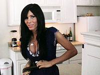 Glamorous Kimber James POV Blowjob at the kitchen