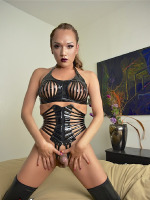Jessica in Sexy Black Latex wants a Hot Fuck So Bad She Spreads Her Legs for You