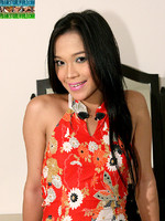 Jessica : Jessica is a sexy ladyboy from Manila who always has a seductive look on her face. With just one glance, this shemale will convince you to drop your pants and push your cock into her wet mouth.