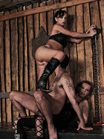 Shemale duo of domination and their slave