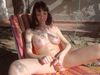 You gotta see this Latin Shemale with massive cock and tits naked outdoors