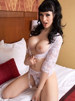 Bailey Jay Tempting Bailey playing on the bed