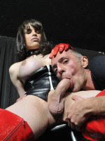 Bianca Soarez - Dirty shemale is pounding her male sex slave hard