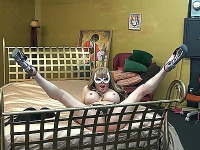 Masked Jesse rock hard on the bed