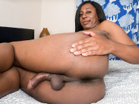 Sexy curvy Kylie Amoi is a hot Grooby girl with a sexy body, small sexy tits, a big juicy ass and a large hard cock! Watch this sexy transgirl jacking off and cumming!