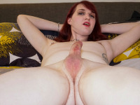 Sexy Kylie Cannon returns for her fourth Grooby Girls solo scene! Horny as hell, this cute redhead is ready to put on another show for you! Kylie loves showing off her sexy body, long legs and an amazing booty! Watch her stroking her cock until she cums in another hot solo scene brought to you by Amy Space Kitten!