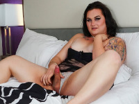 BBW bombshell Ryhan Rose returns for her second solo scene and she is ready to have fun! Ryhan is gorgeous! She got a stunning curvy body, small boobs with pierced nipples and a juicy big ass! Watch her stroking her cock until she cums!